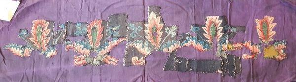 Vue d'ensemble des fragments de la tapisserie de l'Apocalypse retrouvés par la galerie Ratton et Ladrière