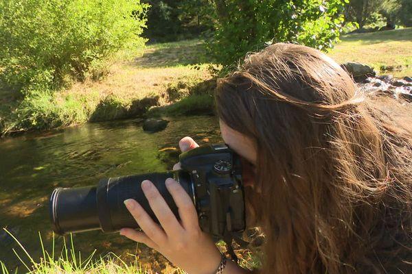 Laura Quintanel en plein shooting.