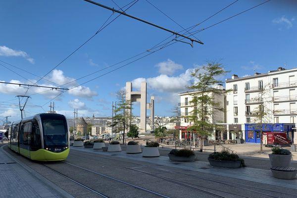 Le bas de la rue de Siam, à Brest, est concerné par ces nouvelles restrictions Covid