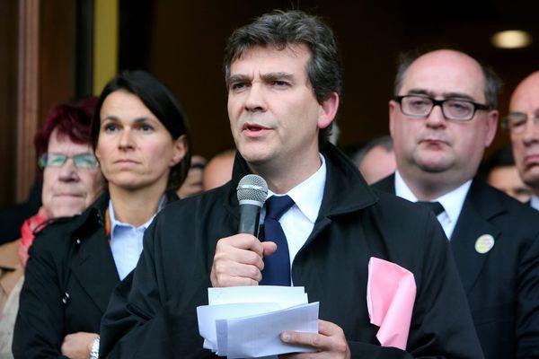 Aurélie Filippetti était au côté d'Arnaud Montebourg lorsque le Ministre du Redressement Productif était venu à Florange en septembre 2012 évoquer la possibilité d'une nationalisation temporaire des hauts fourneaux d'Hayange.