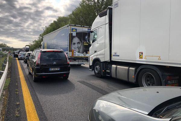 Aude - La circulation a été coupée sur l'A61. 23 août 2021.