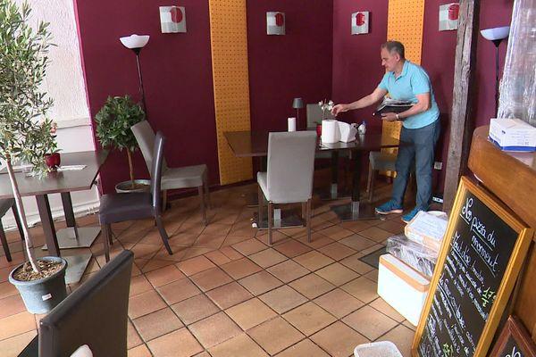 Martino Passanitti, restaurateur à Besançon, prépare la réouverture du 2 juin