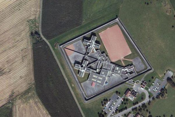 La prison de Maubeuge, vue du ciel.