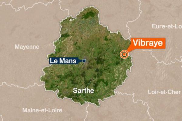 La forêt de Vibraye se trouve dans la Sarthe à l'est du Mans.