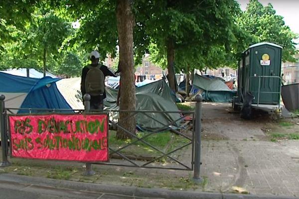 Le camp dépasserait les 130 personnes aujourd'hui. (archives)