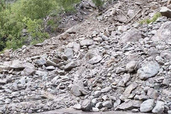 Les orages qui ont frappé le secteur de La Grave  jeudi en fin de journée ont provoqué quatre coulées de boues.