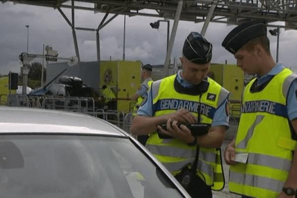 Contrôle de la gendarmerie ce samedi au péage de Dozulé sur l'A13