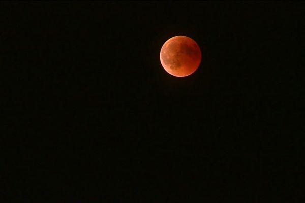 L'éclipse de lune observée à Eze.