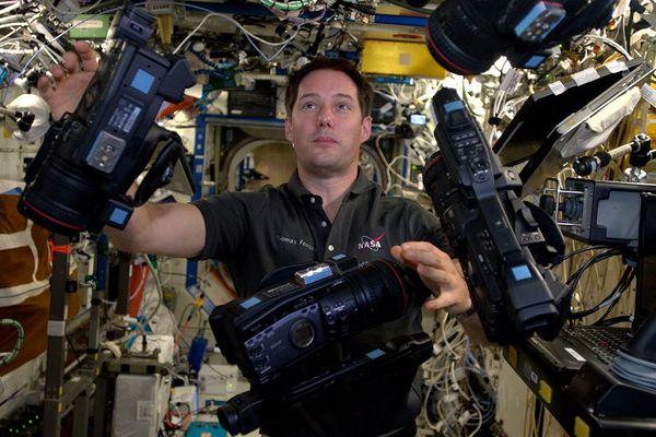 L'astronaute Thomas Pesquet à bord de l'ISS le 14 février 2017