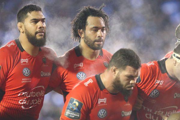 Les joueurs du RC Toulon lors de leur match contre Bath, le 16 décembre.