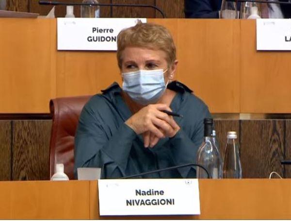 Nadine Nivaggioni, élue vice-présidente de l'Assemblée.
