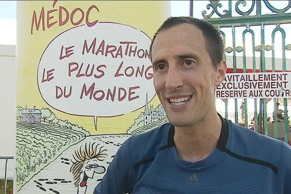 """Denis Mayaud après sa victoire au """"marathon le plus long du monde"""" !"""