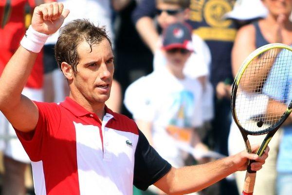 Monte-Carlo (Monaco) - Richard Gasquet qualifié pour les 1/4 du Monte-Carlo Masters - 18 avril 2013.