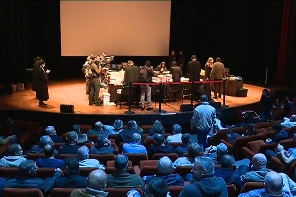 L'audience devant le Conseil des prud'hommes d'Amiens, le 4 octobre 2018 au Mégacité.