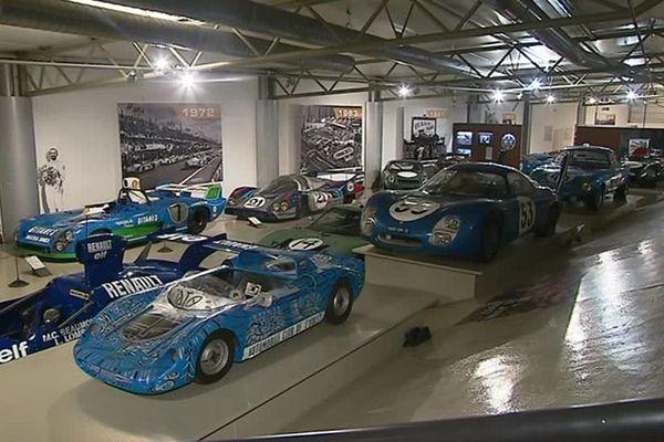 Une des salles d'expositions du musée des 24 Heures du Mans
