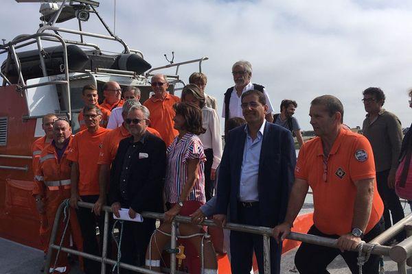 La mission sénatoriale sur le sauvetage en mer était dans le Calvados ce lundi 26 août