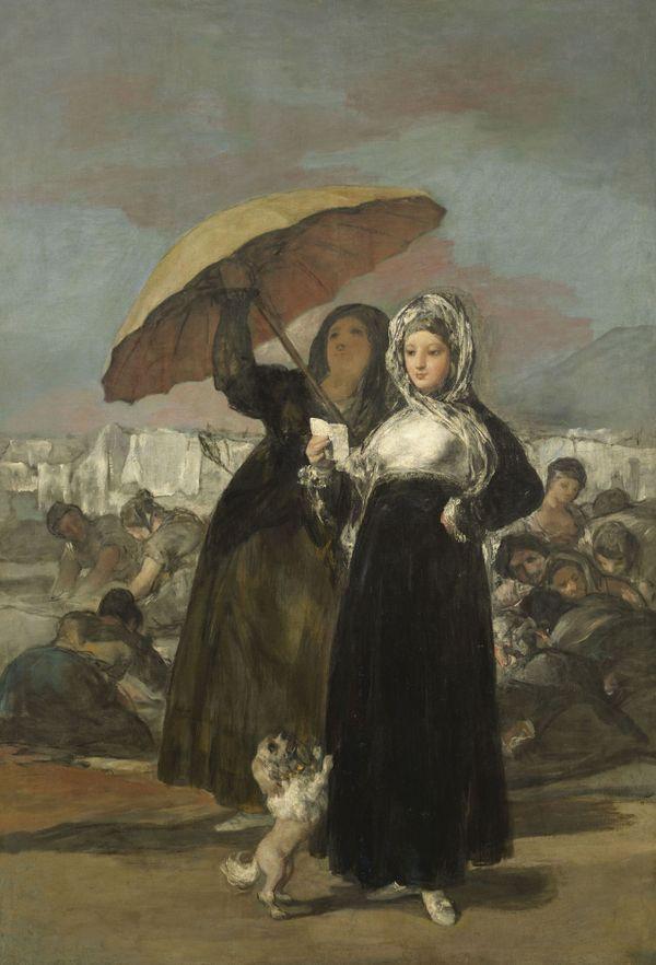 Francisco de Goya La lettre ou les jeunes, 1814-1819 Huile sur toile 191 x 122 cm Palais des Beaux-arts de Lille