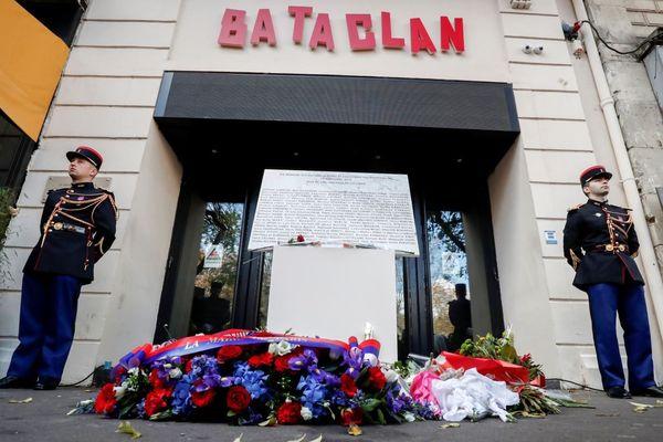 L'entrée du Bataclan le 13 novembre 2018, lors d'une cérémonie d'hommage aux victimes des attaques de 2015 (illustration).