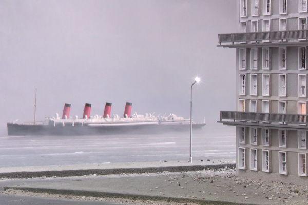 Une des visions du Havre par l'artiste belge Philippe de Gobert