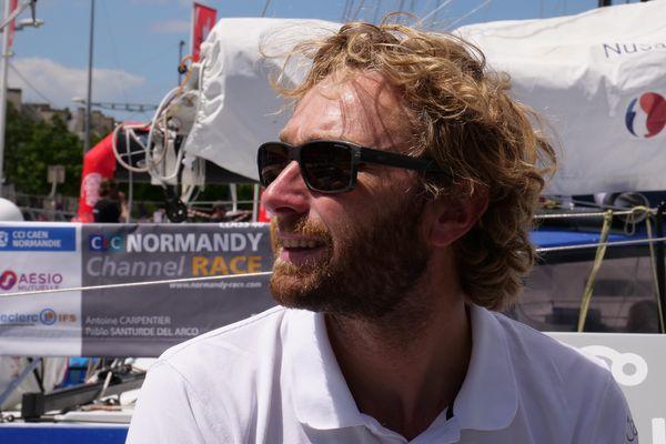 Luke Berry, skipper Lamotte - Module Creation, à quelques jours du départ de la Normandy Channel Race 2021.
