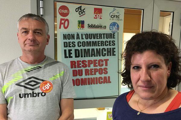 Pour Patrice Auvinet, secrétaire du syndicat CGT commerce d'Angers et Saliha Guechaichia, déleguée CGT du Casino de la Roseraie ce jugement est une victoire
