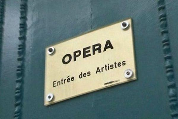 L'entrée des artistes de l'Opéra national de Lorraine à Nancy.