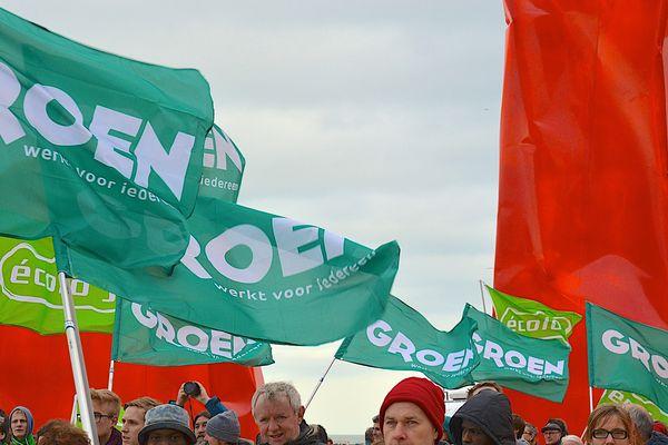 Des militants Groen lors d'une marche pour le climat en 2015