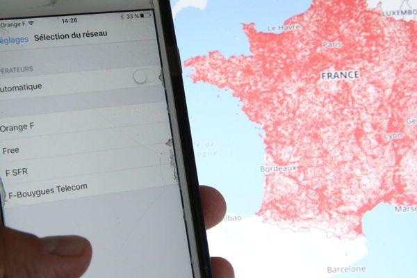 Une carte publiée par l'Arcep pour connaître le meilleur réseau mobile prés de chez soi