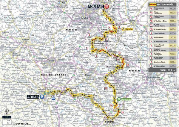 La carte de la 9e étape du Tour 2018