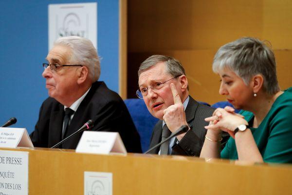 Jean-Pierre Sueur, Philippe Bas et Muriel Jourda, membres de la commission d'enquête du Sénat.