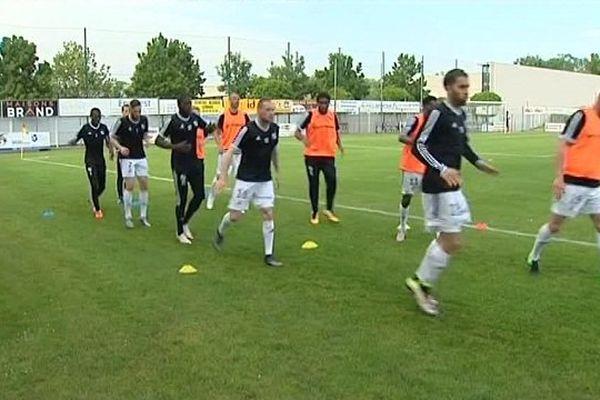 A l'entraînement, les joueurs de l'Amiens SC préparent (peut-être) leur envol en Ligue 2.