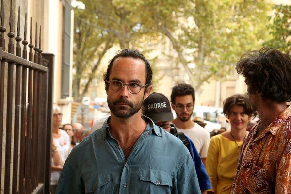 Cédric Herrou comparaît devant la chambre d'instruction de la cour d'appel d'Aix-en-Provence ce jeudi.
