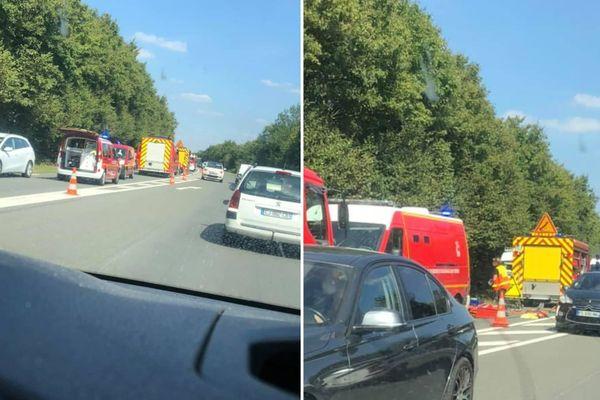 L'accident a eu lieu sur la D40 à Drocourt, dans le sens Rouvroy-Hénin.