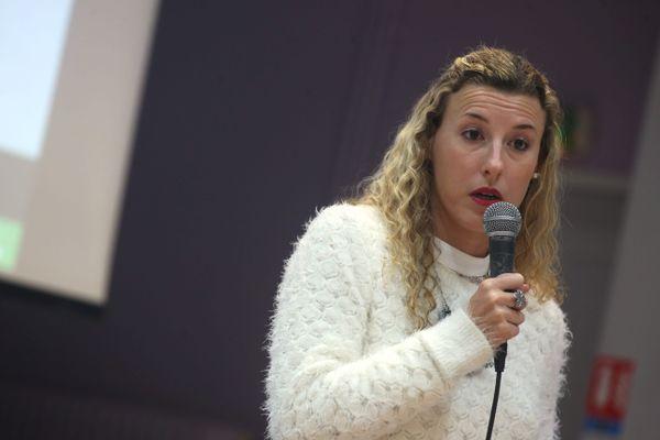 Bethoncourt le 04/12/2019 - L'athlète Ophélie Claude-Boxberger s'exprime sur son affaire de dopage lors de l'assemblée générale du Montbéliard Belfort Athlétisme (MBA)
