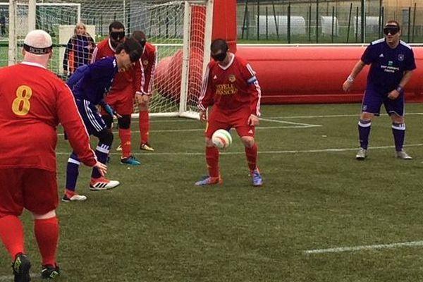 Un des matches du championnat samedi matin au Stadium de Toulouse
