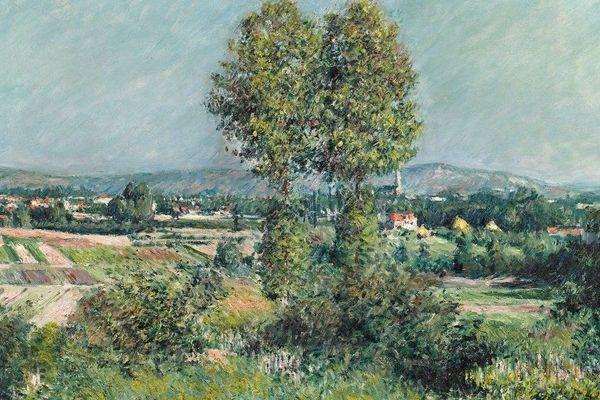 Paysage à Argenteuil, de Gustave Caillebotte