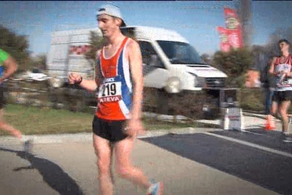 Fabian Fesselier à l'arrivée du 20km marche