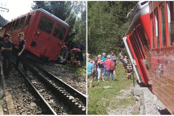 Le train du Montenvers qui relie Chamonix-Mont-Blanc au point de vue sur la Mer de Glace a déraillé le 11 août 2019.