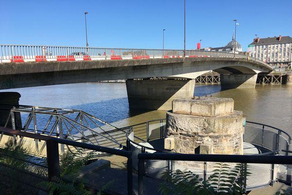 Le pont Anne de Bretagne, dans le cente-ville de Nantes