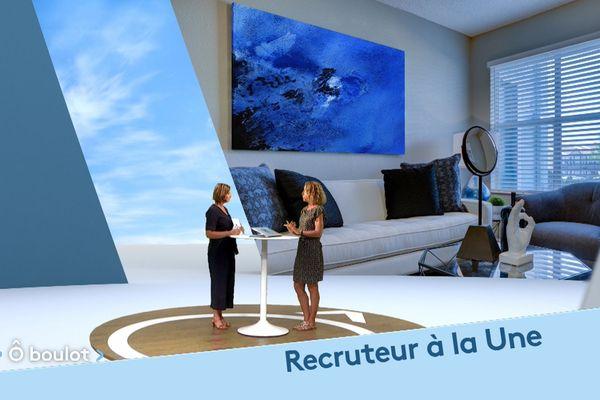 Mathilde Le Roy sur le plateau de l'émission Ô boulot