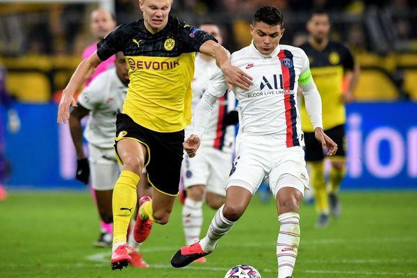 Thiago Silva, lors du 8e  de finale aller du PSG face au Borussia Dortmund.