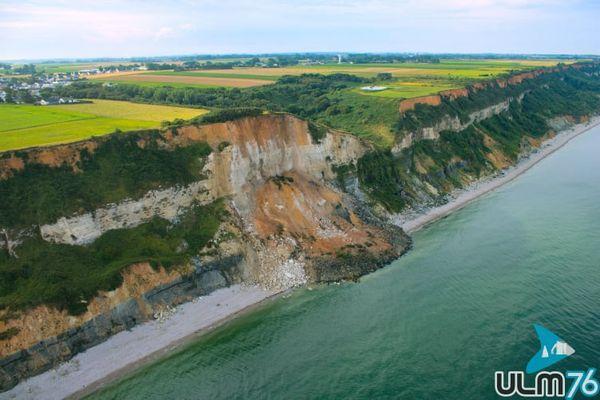 La falaise s'est affaissée à Cauville-sur-Mer, mardi 3 août 2021