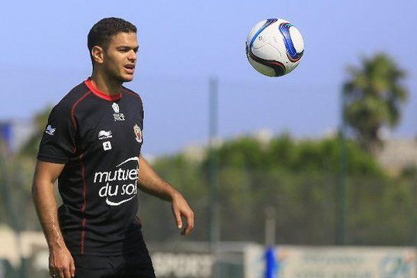 Hatem Ben Arfa à l'entrainement avec l'OGC Nice.