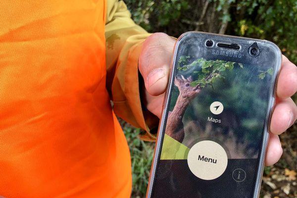 """L'application """"Jour de chasse"""" est destinée aux non-chasseurs et permet de localiser la zone de la battue."""