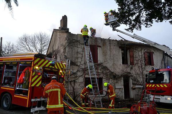 Le 14 février 2021, les sapeurs pompiers du Tarn sont intervenus dans l'incendie d'une habitation à Lisle-sur-Tarn.