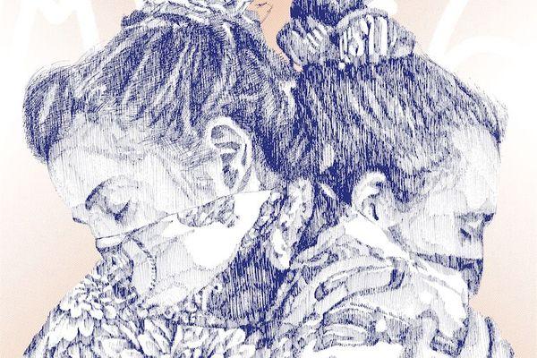 Détail de la sérigraphie créée par l'artiste Félix Wysocki Apaiz.