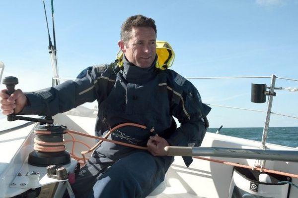 Sébastien Josse a pris pour la seconde fois le départ de la Route du Rhum, à Saint-Malo.