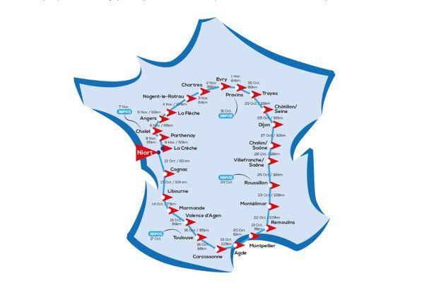 Handi Tour de France from Niortais Franzy Rabin