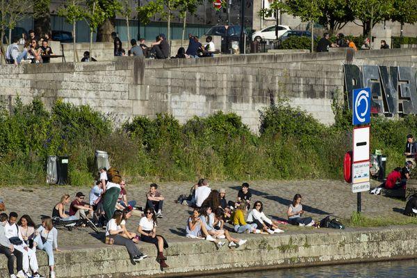 Nantes sur les bords de l'Erdre, à la fin du premier confinement, le 16 mai 2020