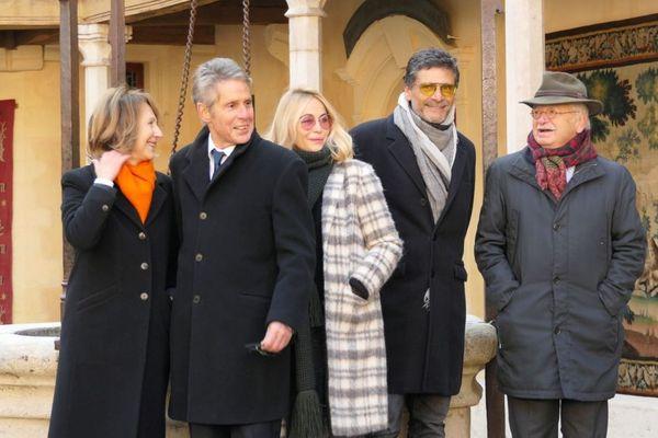 Nathalie Baye, Alain Suguenot, Emmanuelle Béart, Pascal Elbé, Erik Orsenna - 158e vente des vins des Hospices de Beaune